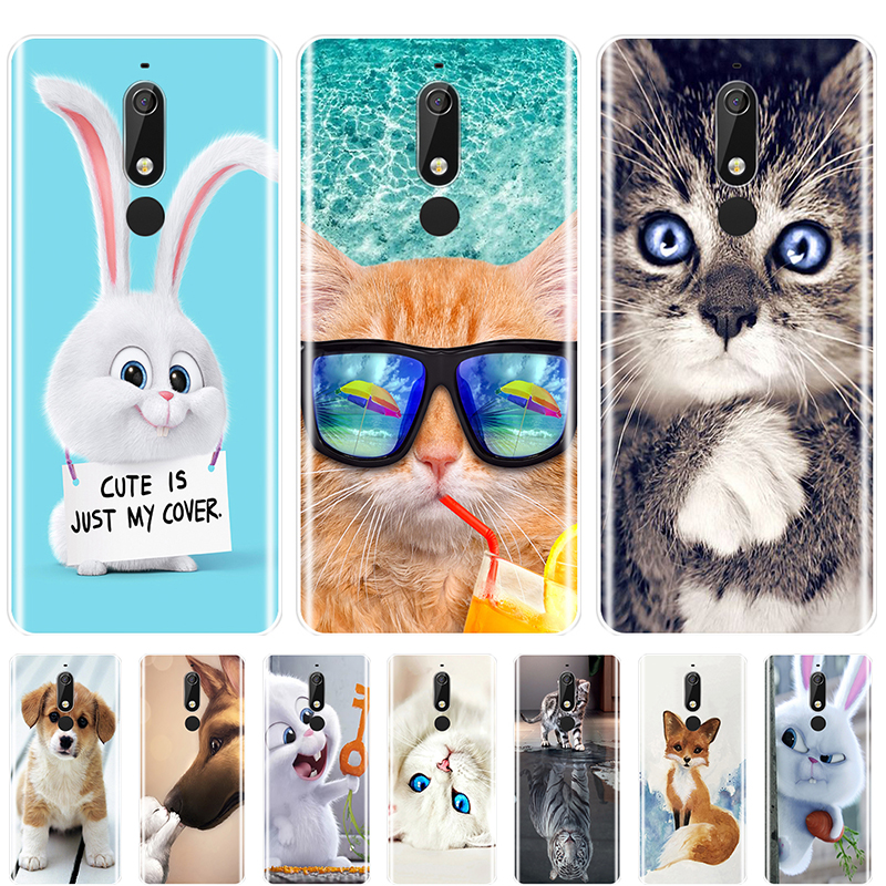 Cute Animals Printed Phone Case For <font><b>Nokia</b></font> 7.1 <font><b>6.1</b></font> 5.1 3.1 2.1 Soft TPU <font><b>Silicone</b></font> For <font><b>Nokia</b></font> 7.1 <font><b>6.1</b></font> 5.1 3.1 2.1 <font><b>Plus</b></font> <font><b>Back</b></font> <font><b>Cover</b></font> image