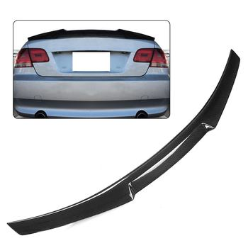 High Quality Real Carbon Fiber E92 Spoiler Wing Car Rear Trunk Spoiler Wing Lip Big M4 Style For BMW E92 M3 2DR Coupe 2007-2013 image