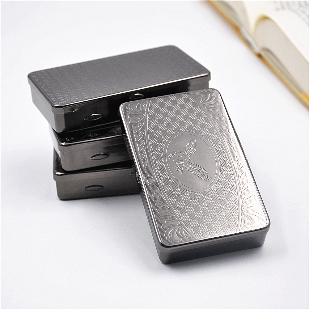 New 1pcs Silver Tobacco Box Humidor Storage For Rolling Machine Container Cigarette Case Holder Smoking Accessories H112
