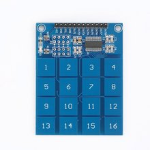TTP229 2.4V-5.5V 16 Channel Digital Capacitive Switch Touch Sensor Keypad Module IC for Arduino Board Electronic DIY Tool