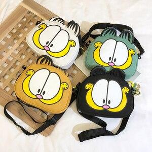 2020 New Fashion Women Handbag Purses Casual Cartoon Printed Shoulder Bags Cute Cat Shape Canvas Bag Simple Ladies Messenger Bag