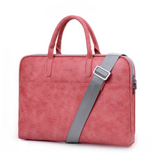 "Fashion new PU waterproof Scratch resistant Laptop Bag 13 14 15.6 inch 17.3"" Notebook Shoulder Carry Laptop Briefcase"