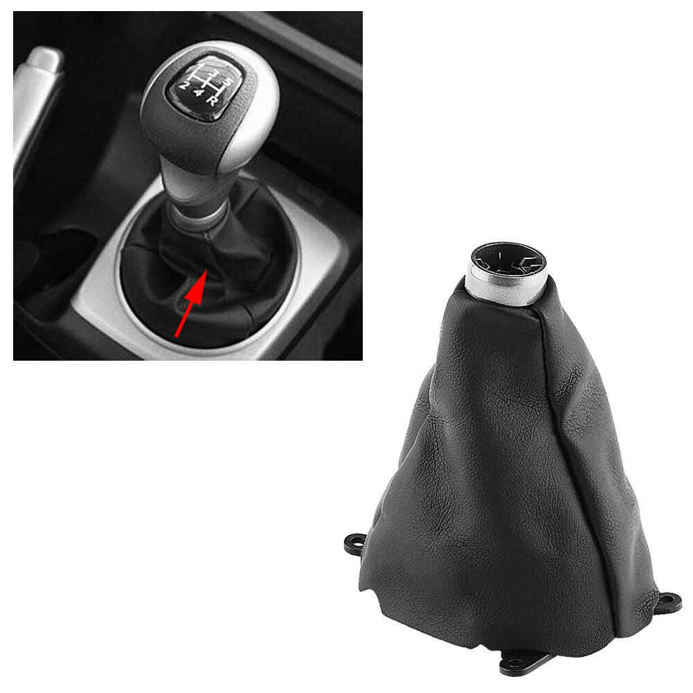 Auto Manual Gear Shift Shifter Boot Cover voor Honda Civic 2006 2007 2008 2009 2010 2011 2012 PU Leather Gear knop Gaiter Cover