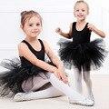 Детские платья-пачки для девочек, гимнастический костюм, детская танцевальная одежда, одежда для упражнений, балетное платье, хлопковое цел...