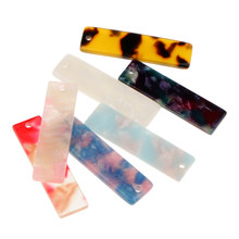10Pcs Rectangle Earring Pendant DIY Jewelry Finding Making Crafts(China)