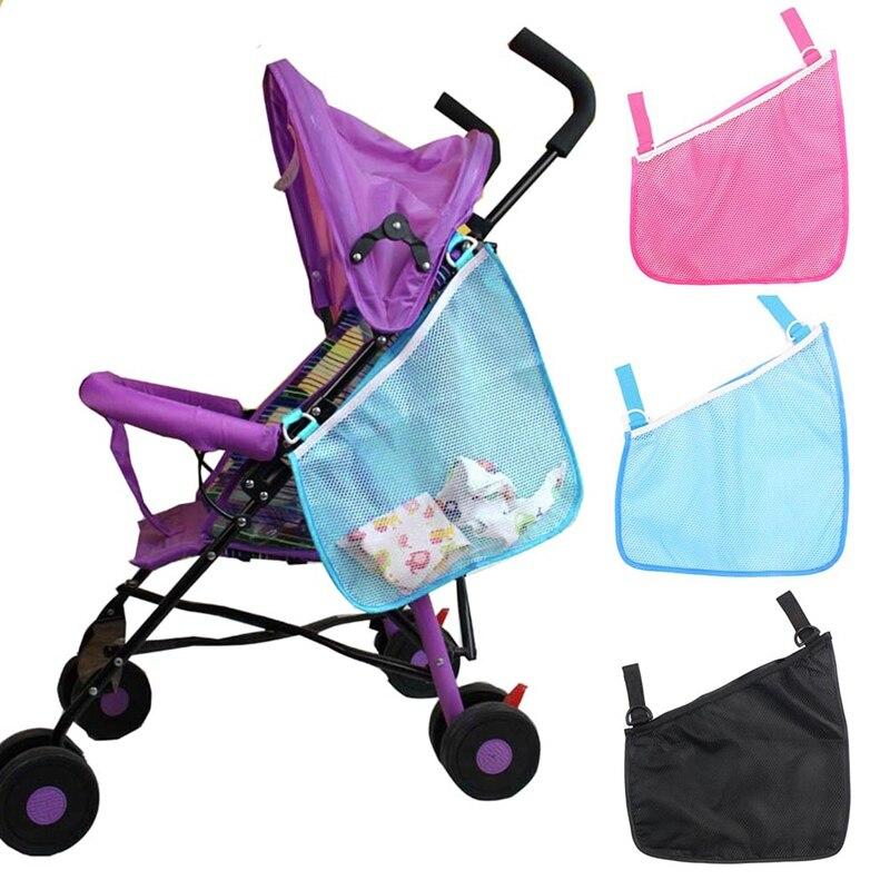 Baby Infant Cart Pram Stroller Accessories Mesh Side Hanging Bag Pushchair Storage Net Bag Organizer Kids Toys Bottle