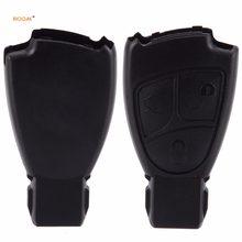 Riooak novo 3 pçs/lote 2/3 botões caso chave inteligente escudo fob capa de substituição para mercedes benz b c e ml s clk cl 3bt chave do carro