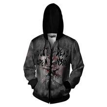 Sudadera con capucha de The Walking Dead para hombre y mujer, sudadera Cosplay de Hip Hop con capucha y cremallera, chaqueta, abrigo