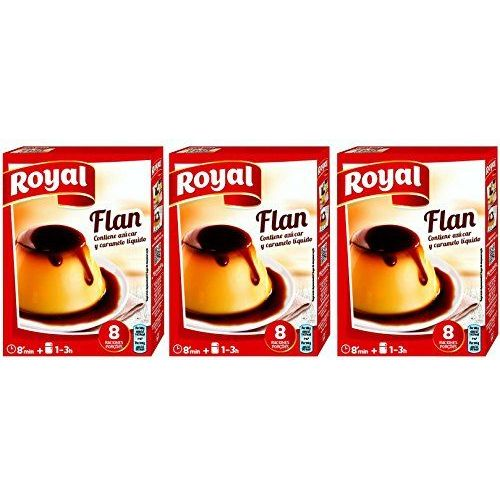 Royal Flan Custard With Caramel 186 Gr. - [Pack Of 3]