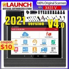 LAUNCH herramienta de diagnóstico profesional X431 V Pro V4.0, escáner OBD2, todos los sistemas, Launch Scanner X431 PRO V 30 + reinicio de lector de código OBDII