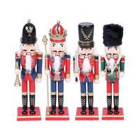 1/4/Pcs 30CM Nutcracker Christmas Puppet Set Powder Nutcracker Puppet Christmas Tree Pendant Dolls Birthday Christmas Gift