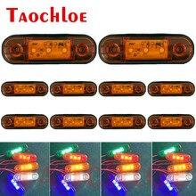 10 pces 12v 24v led lado marcador de sinalização lâmpada caminhão reboque sinais de volta luzes de folga ônibus carro correndo luz âmbar branco