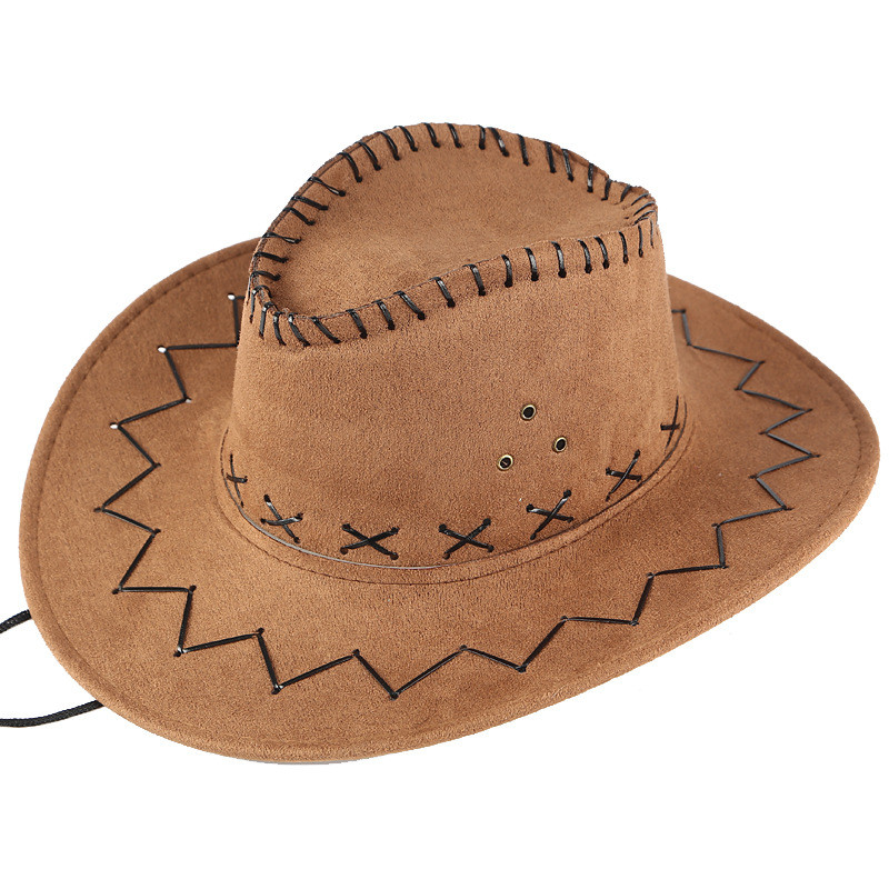 Whoohoo Unisex Adult West Cowboy Solid Casual Hat Mongolian Hat Grassland Sunshade Cap Women Summer Beach Travel Hat