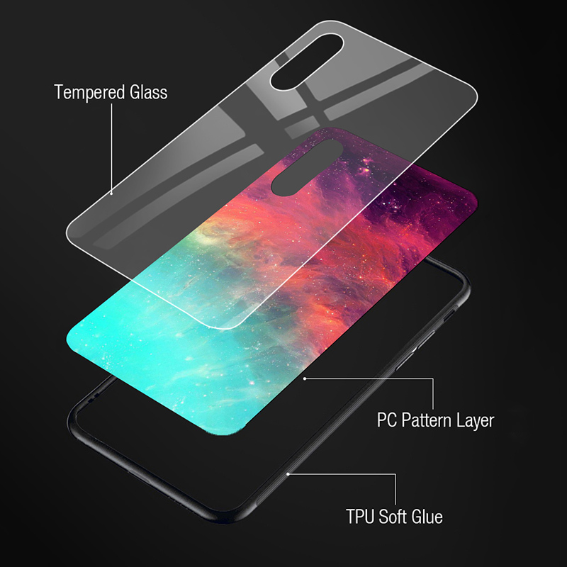 Tempered Glass Case For Samsung Galaxy Note 10 Lite Cases Shockproof Back Bumper Samsung S20 Ultra S10 S8 S9 Plus S10E 8 Covers