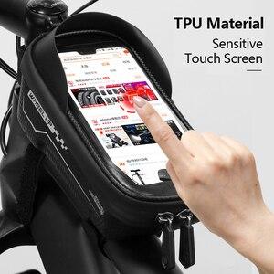 Жесткая велосипедная сумка MTB, передняя сумка, верхняя трубка, водонепроницаемая, 6,5 дюйма, мобильный телефон, сумка, седло, аксессуары