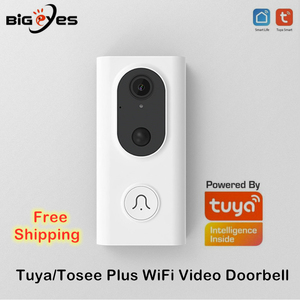 Tuya wi fi campainha de vídeo vida inteligente sem fio vídeo porta telefone baixo consumo energia alexa e google casa campainha câmera
