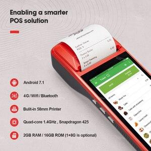 Image 2 - ISSYZONEPOS PDA 안드로이드 7.1 58mm 블루투스 프린터 열 스캐너 4G 와이파이 NFC 모바일 주문 POS 터미널 핸드 헬드 바코드 리더
