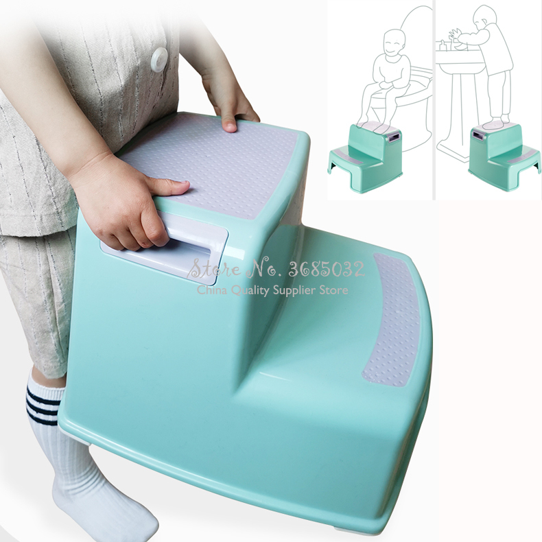 Kids Toilet Chairs Foot Step Stool Baby Wash Stool Children's Bathroom Non-slip  Ladder Step Stool Chair Baby Kids Stools
