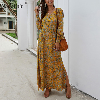 Long Sleeve Spring Elegant Retro Maxi  4