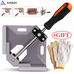 Image 1 - Алюминиевый угловой зажим AMKOY 90 градусов, прямоугольный зажим, инструмент, одна ручка, деревянные металлические сварочные зажимы, тиски для деревообработки, держатель