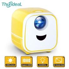 Thundeal جهاز عرض مسرح منزلي صغير للأطفال ، جهاز عرض مسرح منزلي محمول PK YG300 ، 1080P ، Full HD LED L1 ، هدية للأطفال