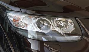 Image 2 - Автомобильная фара Объектив для Hyundai Santa Fe 2008 2009 2010 2011 2012 Автомобильная сменная крышка