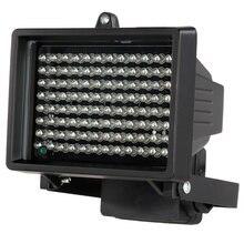Iluminador luminoso cctv 60m ir, infravermelho visão noturna auxiliar iluminação externa à prova d' água para câmera de vigilância 96 led
