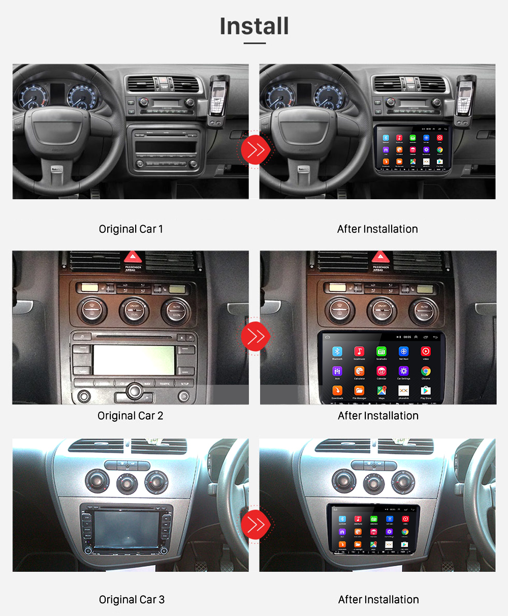 "Image 2 - Podofo 9"" Android 2din Car Radio GPS Navigation for VW Volkswagen SKODA GOLF 5 Golf 6 POLO PASSAT B5 B6 JETTA Seat Car Autoradio-in Car Multimedia Player from Automobiles & Motorcycles"