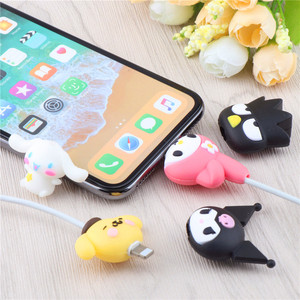 Lovely Silicone Cable Bite Protector Winder Cute Cartoon Anime Data Line Protector Cover Wire Organizer Holder For IPhone11Pro X