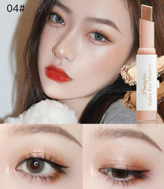 Two-color Gradient Stereo Eye Shadow Stick Pen Eyeshadow Stick Double Color Gradient Shadow Stick Shimmer Glitter Makeup TSLM1 6