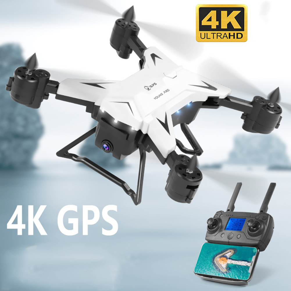 KY601G Foldable Drone 4K HD Intelligent WIFI 4 Channels USB Charging Dual GPS FPV Remote Control ABS Drone Camera