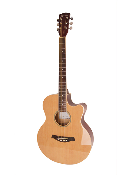 F521-n Acoustic Guitar, With Cutout, Natural Color, Caraya
