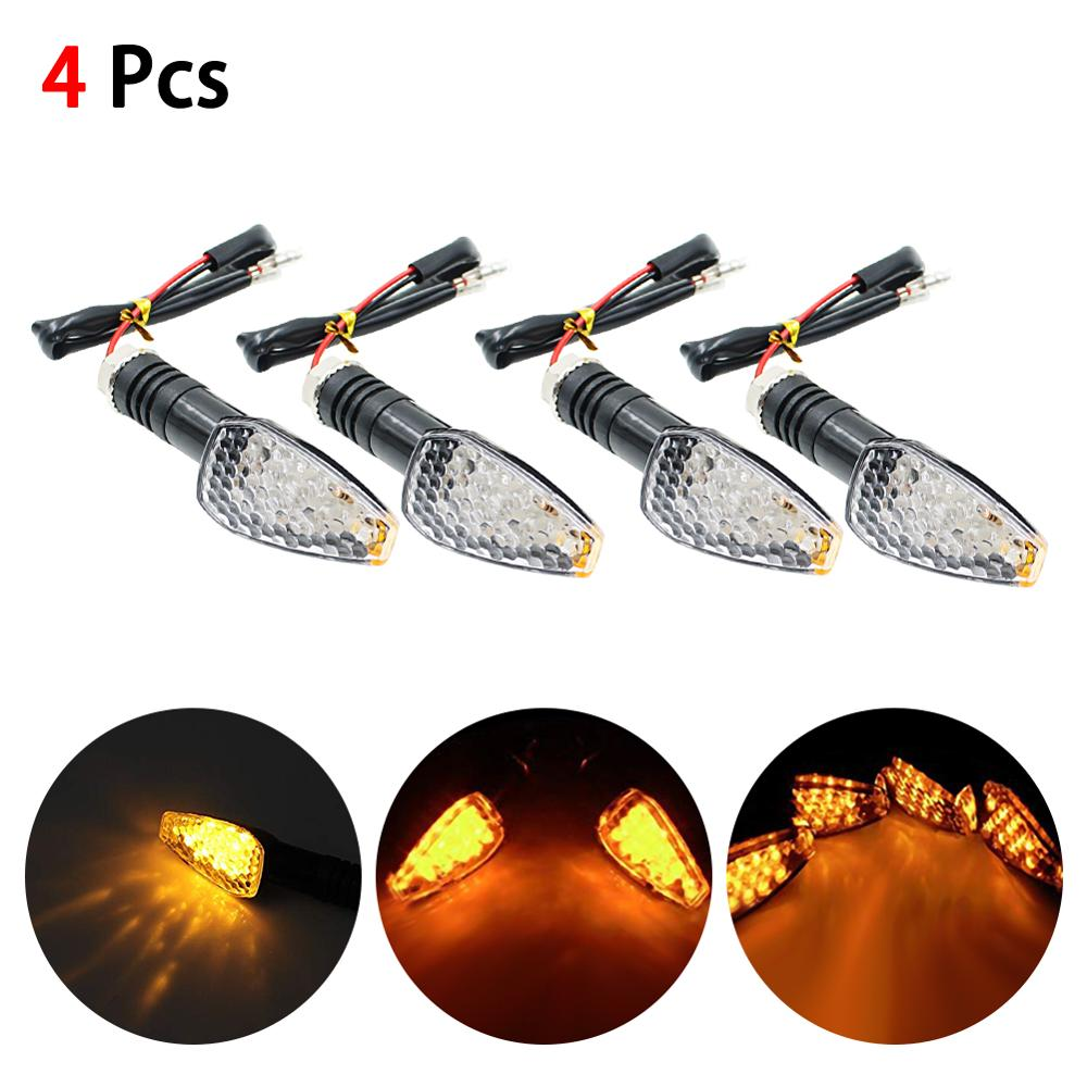 4Pcs Flashing Motorcycle LED Turn Signal Light High Quality 12 Led Indicator Light Dual Color Blue&Amber Blinker Light