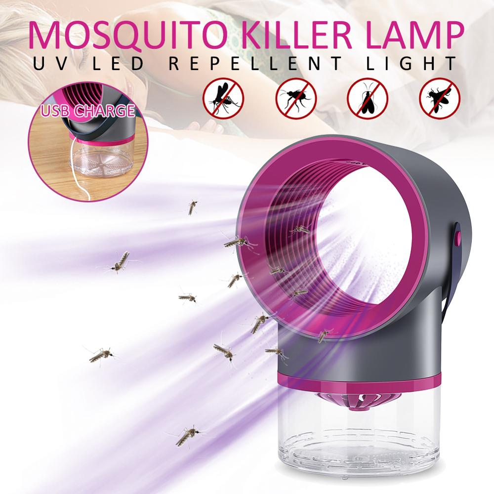 USB Portable Mosquito Killer Lamp  No Noise No Radiation Insect Killer Flies Trap Lamp Anti Mosquito Light For Home Outdoor