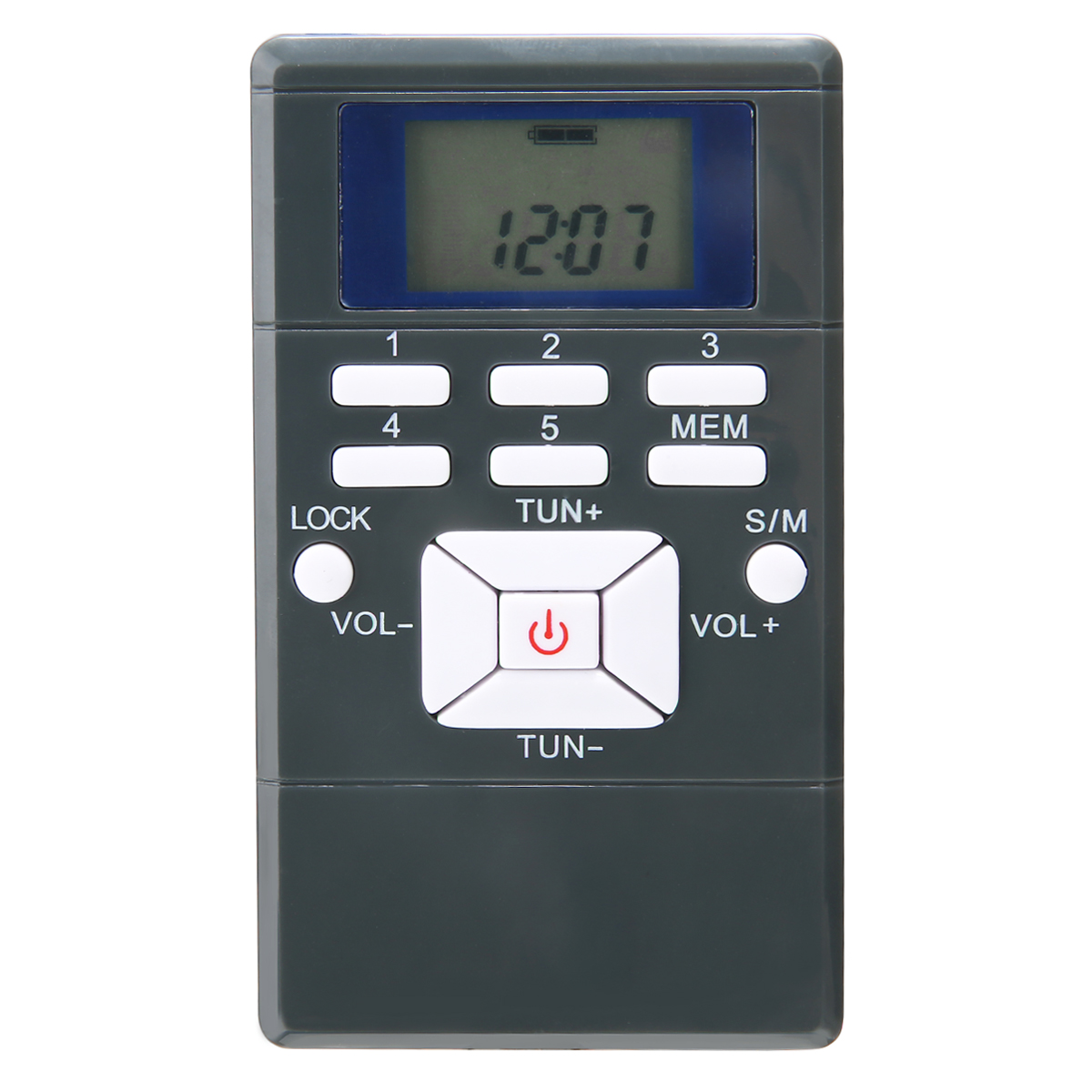 Pohiks 60-108MHz FM Radio Receiver Portable Handheld Digital FM Radio Battery Powered with Earphone Plastic Shell