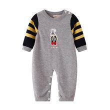 Трикотажный комбинезон для новорожденных с вышивкой в виде кролика