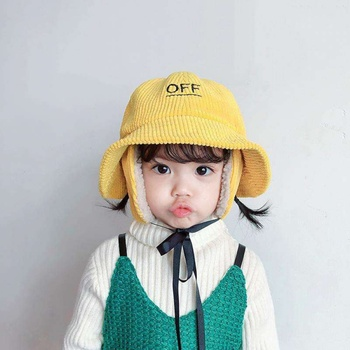 Winter Toddler Cute Baby Hat Boy Girl Earmuffs Cap Warm Plush Soft Letter Embroidery Pattern Hat Baby Accessories 1pc new spring warm cotton baby hat girl boy toddler infant kids caps candy color cute baby beanies accessories