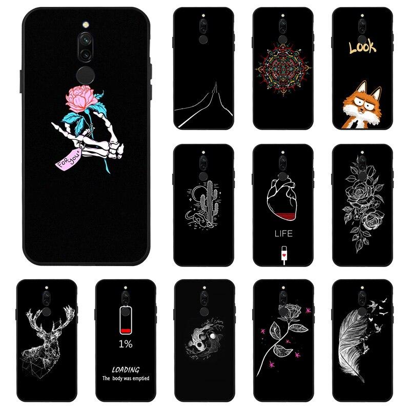 DIY Fashion Sillicon Case For Xiaomi Redmi Note 8 Pro Cases Anti-knock Cover For Xiaomi Redmi 8 8A 7A 7 Note 7 Bumper Fundas