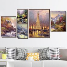 Nordic Poster Vintage Thomas Landscape Canvas Painting Modern Home Decoration Modular Wall Art Pictures For Living Room No Frame(China)