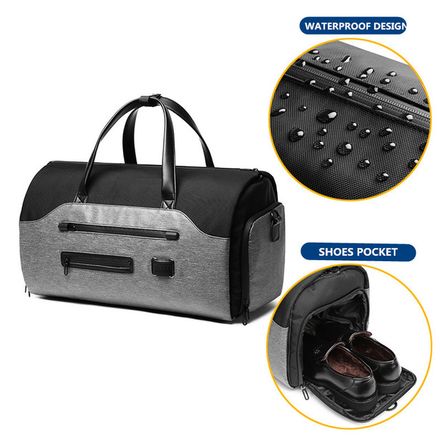 OZUKO Travel Bag Multifunction Men Suit Storage Large Capacity Luggage Handbag Male Waterproof Travel Duffel Bag Shoes Pocket 4