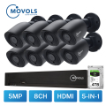 MOVOLS 5MP CCTV Kamera Sicherheit System Kit 5mp AHD Kamera Im Freien IR Sicherheit Kamera Video Überwachung System 8ch DVR set-in Überwachungssystem aus Sicherheit und Schutz bei