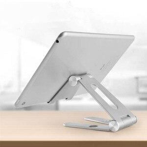 Obrotowy uchwyt na Tablet ze stopu aluminium do ipada air 1/2 mini 1/2/3/4 pro 9.7 10.5 12.9 składany uchwyt na telefon komórkowy Stand Support
