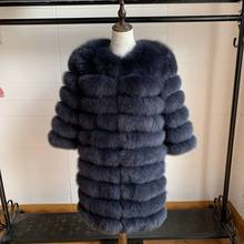 2019 Real Fox Fur Coat Women Natural Real