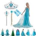 Платье принцессы Эльзы для девочек, детские платья для девочек-подростков, детская одежда Анны, Эльзы, для вечеринки, для косплея Снежной Ко...