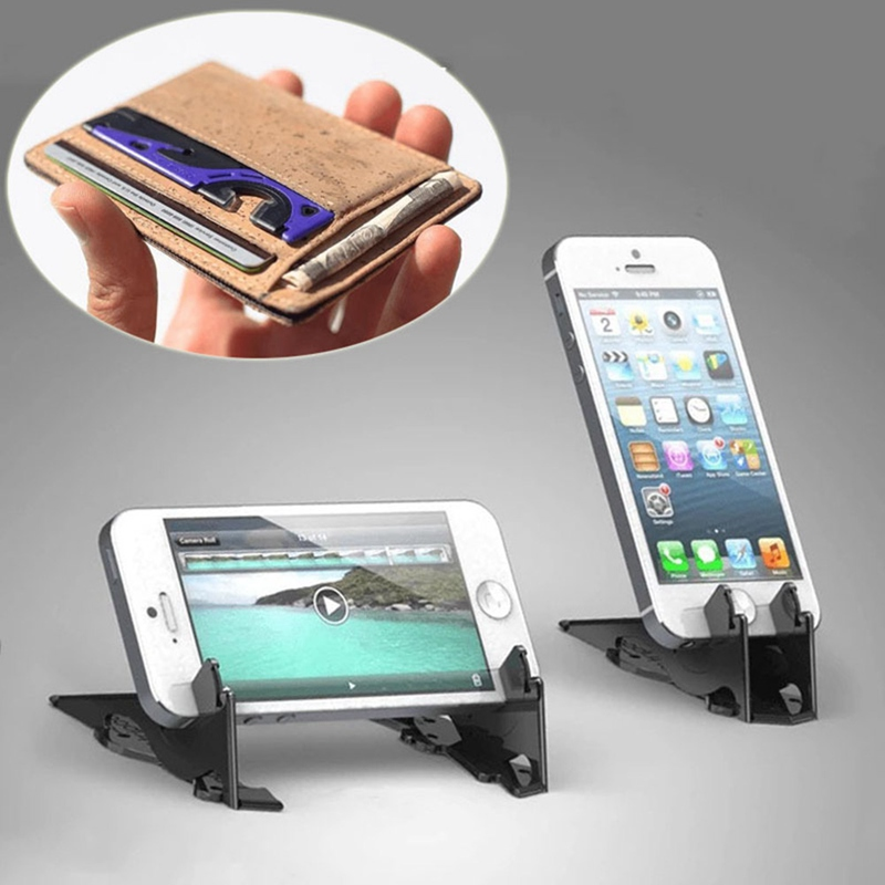 2019 Hot Foldable Phone Holder For IPhone Card Type Portable Rotation Convenient Home Stable Universal Pocket Tripod Adjustable