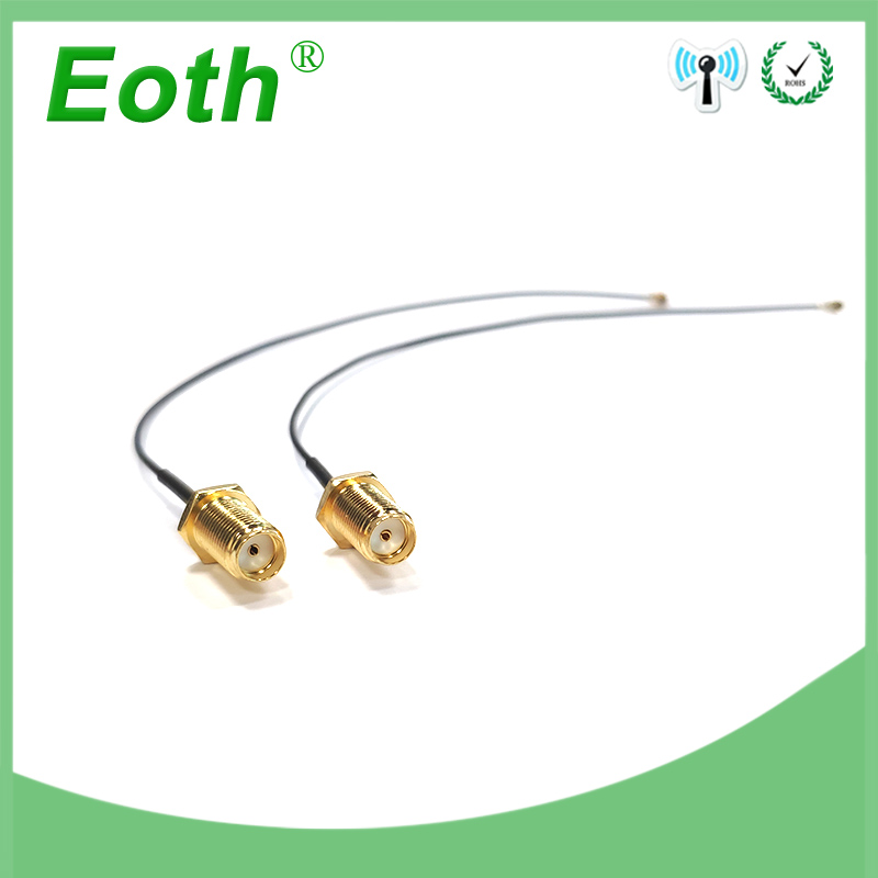 2pcs 10cm 21cm Extension Cord UFL To RP SMA Connector Antenna WiFi Pigtail Cable IPX To RP-SMA  Female To IPX 21cm