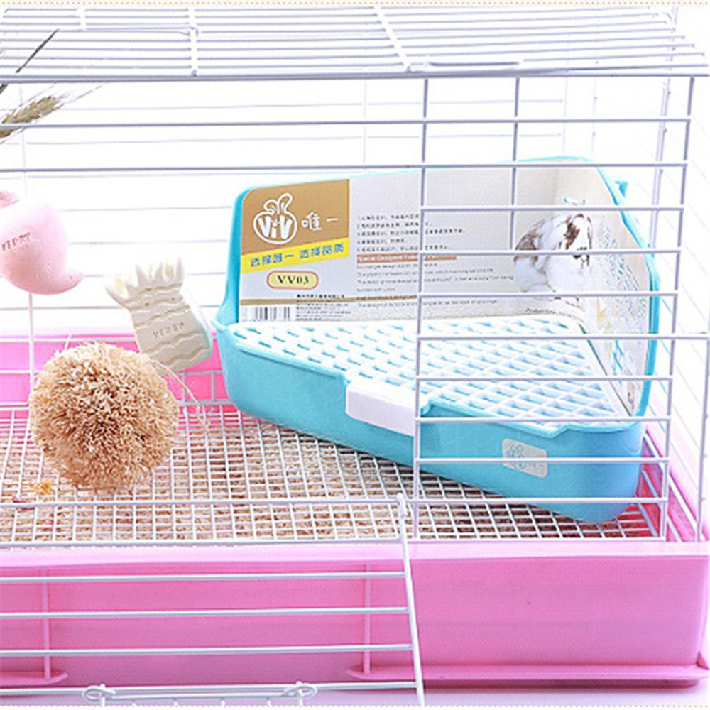 Corner Litter Box For Hamster Rabbit Mesh Toilet Chinchilla Training Pee Sifting Tray Easy Cleaning Squirrel Small Pet Products