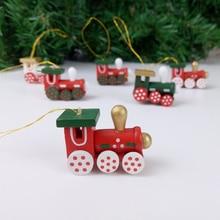 6pcs/set Locomotive Pendant Christmas Tree Hanging Ornaments Set Train Decorations For Home New Year Xmas Decor