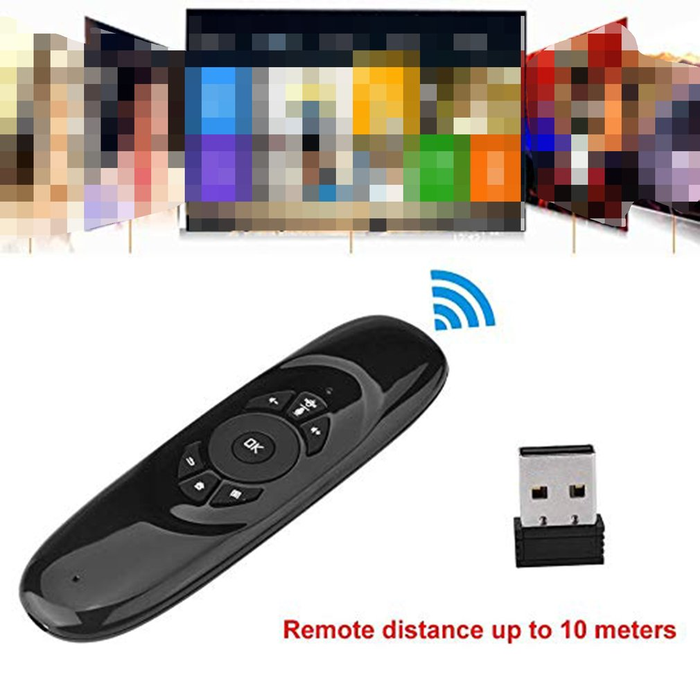 C120 Multi-Language Version Wireless Air Mouse Mini Keyboard Mouse Somatosensory Gyroscope Double-Sided Remote Control