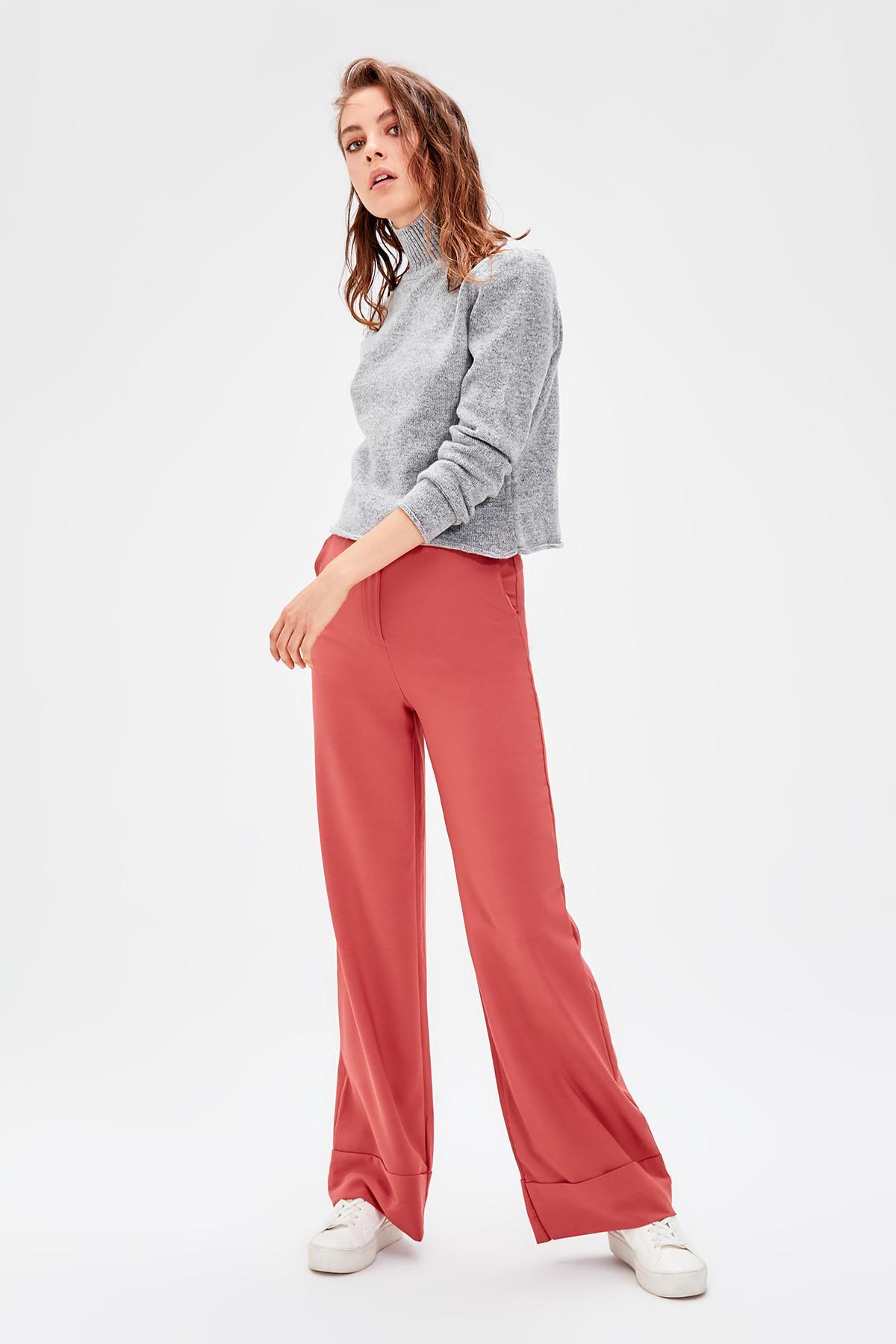 Trendyol Cinnamon Spanish Bell-Bottomed Pants TWOSS19ST0179